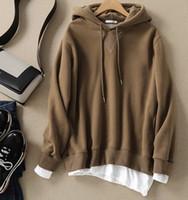 Wholesale Mens Xxl Belts - 2018 New brand Hoodie Streetwear Hip Hop coffee Hooded Hoody Mens Hoodies and Sweatshirts Size M-XXL