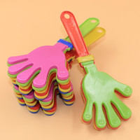 пластиковые игрушки оптовых-Пластиковые хлопки в ладоши хлопать игрушка развеселить ведущий хлоп для олимпийской игры в футбол Noise Maker Baby Kid Pet Toy