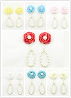 Wholesale pearl toe ring for sale - Group buy New Baby Flower Sandals Anklets Simulated Pearl Newborn Baby Girls Foot Band Toe Rings First Walker Barefoot Sandals Foot ornament KFA34