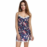 Women Sexy Floral Silk Satin Nightgown Sleeveless Nightdress Lace Sleep  Dress V-neck Nighties Night Shirt Sleepwear Nightwear L3 6cff05c93c2e