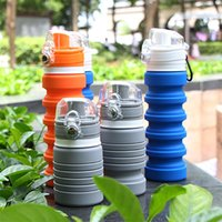 Wholesale sports aluminum water bottles for sale - Group buy Creative Folding Cup Portable Outdoor Sport Water Bottle Multi Colour Silicone Telescopic Mug Leak Proof High Quality sj C