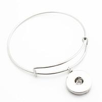 18mm verstellbarer ring großhandel-Heiße verkaufende 10pcs / lot silberne Ingwer-Druckknopf-justierbare erweiterbare Armbandarmbänder für 18mm diy Verschluss-Juwel