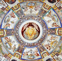murais de anjo venda por atacado-Papel de parede para a pintura Anjos Anunciação Zenith murais 3d Murals teto papel de parede