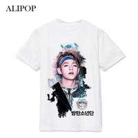 Discount boys purple t shirt - ALIPOP Kpop BTS Bangtan Boys WINGS SUGA V Album Live Print Loose Shirts Hip Hop Tshirt T Shirt Short Sleeve Tops T-shirt DX494