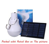 Wholesale Party Tent Lights - Solar Led Bulb Lamp 15W 130LM Charged Solar Energy Lamp 5V Solar Panel Powered Bulb Outdoors Camping Tent Fishing Light