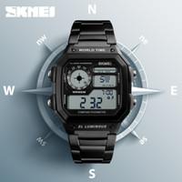 relogios relógios digitais venda por atacado-Bússola Contagem Regressiva Digital Sports Relógios SKMEI Mens Relógios Top Marca de Luxo Pedômetro Calorias Homens Relógio de Pulso À Prova D 'Água Relógio