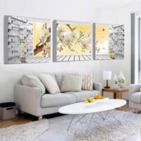 Pinturas Nueva Venta Arte de la pared Pintura en lienzo Cuadros Decoracion  Impresión 3D Gran Decoración para el hogar Sala y Comedor Sin marco