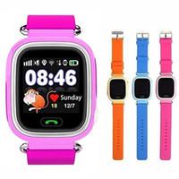 smartwatch wifi toptan satış-Q90 Bluetooth GPS Takip Smartwatch Dokunmatik Ekran Ile WiFi LBS iPhone IOS Android için SOS Çağrı Anti Kayıp SmartPhone Giyilebilir Cihaz ...