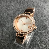 популярные фирменные часы для девочек оптовых-36 мм ультра тонкий Алмаз часы женские розовое золото браслеты 2018 Лучший бренд роскошные женские платья повседневная дизайнер наручные часы подарки для девочек