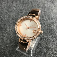 Wholesale womens diamond dress watch - 36mm Ultra thin diamond watches womens rose gold Bracelets 2018 top brand luxury ladies dresses casual Designer wristwatch gifts for girls