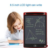 Wholesale Office Whiteboard - 8.5 inch LCD Writing Tablet Memo Drawing Board Blackboard Handwriting Pads With Upgraded Pen for Kids Office One Butt Christmas gifts