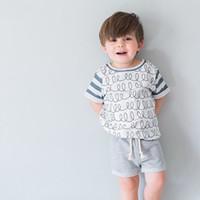 ingrosso camicia bianca stampata per i bambini-Magliette stampate per bambini Fratello estivo Abbigliamento per bambini Ragazzi Maglietta bianca Bambini Hawaii Tees Maglietta per bambini Stampa Maglietta per bambini