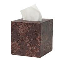 caja de servilleta funda de cuero al por mayor-Funda de cuero cuadrada para el hogar Funda de caja para el tejido del hotel para el automóvil Funda de papel para servilleta de papel