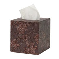 салфетка коробка кожа покрытие оптовых-Square Leather Home Room Car Hotel Tissue Box Cover Paper Napkin Holder Case