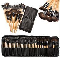 Wholesale make up brushes 32 pcs - Professional 32 pcs Makeup Brushes Set For Women Fashion Soft Face Lip Eyebrow Shadow Make Up Brush Set Kit + Pouch Bag