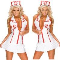 hemşire üniforma iç çamaşırı toptan satış-Yeni Yaramaz Seksi Hemşire Kostümleri Kadınlar için Lingerie Seksi Sıcak Erotik Lingerie Üniforma Kadın Kostüm Doktor Kostümleri Suit