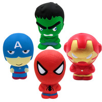 Wholesale Squishy toys Slow Rising The Avengers Iron Man Captain America Hulk Squeeze Toy Squishies Stress Relief For Kids toys C5036
