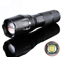 Wholesale best portable torches resale online - Best Selling E17 Cree LED Flashlight Lumens Waterproof Zoomable Mode XML T6 Lamp Camping Torch By Rechargeable Battery