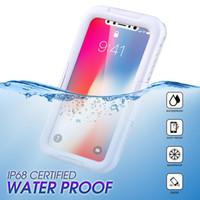 iphone water seal оптовых-В наличии для iPhone X чехол водонепроницаемый защитник полностью герметичный чехол противоударный снегостойкий грязеотталкивающий чехол под крышкой воды
