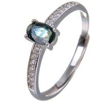 gemas de safira azuis venda por atacado-Anel de safira natural Origem real azul safira 925 sterling silver gem anel de Dedo jóias Finas