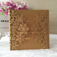 yılbaşı tema kartları toptan satış-30 adet Lazer Kesim 250gsm Inci Kağıt Noel Tema Tebrik Nimet kart Kar Tanesi Tasarım Düğün Davetiyesi Kartları