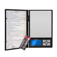 Wholesale Mini Pocket Notebook - Electronic LCD Display scale Mini Pocket Digital Scale Weighing Scale Weight Scales Electronic Balance notebook 500g*0.01g 2000g 0.1g 20pcs