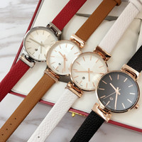 Wholesale date female resale online - 2018 Brand new model Fashion women genuine leather Luxury wristwatch Female clock japan movement quartz watch auto date Best gift for girls