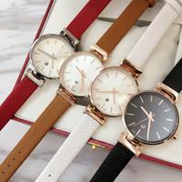 kızlar için deri saatler toptan satış-2018 Yepyeni modeli Moda kadın hakiki deri Lüks kol saati Kadın saat japonya hareketi kuvars İzle oto tarihi Kızlar için En Iyi hediye