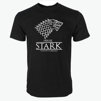Wholesale green t house - Game of Thrones raglan tee House Stark letters Winter Is Coming t shirt 2018 hot sale 100% cotton top tees S-3XL
