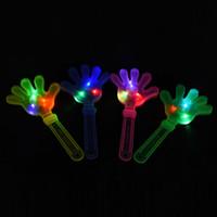 hafif alkış toptan satış-Flaş led Lüminesans eller alkış ışık parti malzemeleri ışık el alkışlama cihazı aydınlık palm parti malzemeleri