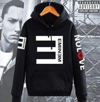 erkek kapşonlu kış tops toptan satış-Erkek Polar Hoodies Kadınlar Eminem Baskılı Kazak Spor Hoodies Severler Uzun Kollu Kapşonlu Kazak Kış Sonbahar Tops