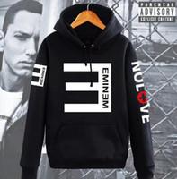 tapas encapuchadas del invierno para hombre al por mayor-Sudaderas con capucha de lana para hombre Mujeres Eminem impreso Pullover Sportswear sudaderas con capucha amantes de manga larga con capucha Sudadera de invierno Otoño Tops