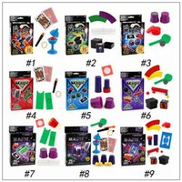 Wholesale poker styles - 9 Styles Magic Props Playing Poker Cards Table Game Standard Edition Magic Prop Fun Entermainment Board Game Kids Paty Favor CCA9728 50pcs