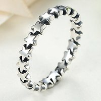 Wholesale wholesale stackable rings - Pandora Rings Star Trail Stackable Finger Ring For Women Wedding 100% 925 Sterling Silver Jewelry 2018 New Collection