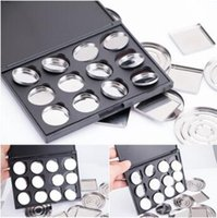 Wholesale eyeshadow palette pan for sale - Group buy Makeup Cosmetic Empty Aluminum Magnetic Eyeshadow Eye Shadow Pigment Pans Palette Case CCA8668