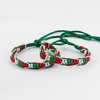 weiße seidenschnur großhandel-10 Italien Flagge grün rot weiß Seide Schnur Makramee Freundschaftsarmband Surfer edlen Schmuck