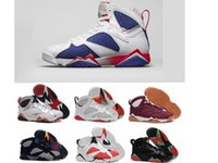 2017 air retro 7 VII uomo Scarpe da basket Olympic Tinker Alternate Raptor Lepri Bordeaux GG Cardinal Citrus French Blue sport Sneaker stivali