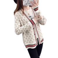 chandails d'école achat en gros de-PEONFLY Femme Jacke Beige XXXL Manteau Pulls Femme Cardigans Tricotés Femme École Tout Allumette Court Lâche Marée Blanc Noir BLEU