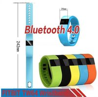 Wholesale Iphone P - FITBIT TW64 Bluetooth Smartband fit bit wrist activity sleep wristband Smart Bracelet For IOS Android iPhone 7 Plus 6 6S Smart Band retial p