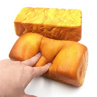 Wholesale jumbo squishy toast - Squishy Soft Jumbo Toast Bread 20cm Slow Rising Squeezable Simulation Collection Gift Decor Toy Phone Straps DDA215