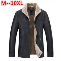 Wholesale sheep s wool - 10XL 8XL 6XL 5XL 4X Pilot Leather Jacket Brown Black Fur Genuine Leather Jacket Men Winter Natural Sheep skin Coat