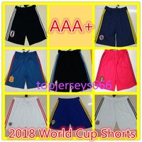 Wholesale Black Red Pants - AAA+ 2018 world cup Argentina Soccer shorts Europe size 18 19 Mexico Colombia Belgium Spain Sweden Argentina Japan soccer shorts pants