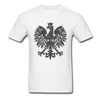 ropa polaca al por mayor-Camisetas de hombres Polish Eagle Tshirt Black Halftone T-shirt Hip Hop Tops Camisetas de algodón puro O Neck Summer Clothes Blanco