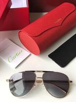 Wholesale fancy sunglasses resale online - Luxury Tide Men Sunglasses Business Casual Sunglasses Fancy Frame Top Quality Men Sunglasses With Fancy Box Colors