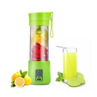 suco elétrico venda por atacado-Portátil Elétrica Fruta Juicer Cup Vegetal Citrus Liquidificador Extrator De Suco De Gelo Triturador com Conector USB Recarregável Juice Maker
