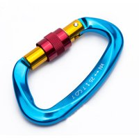 Wholesale D Shape - SALE SUPER LIGHT 25KN   5511Lbs D Shape Carabiner Screw Gate   Aluminum For Rock Climbing Rescue Mountaineering By CE UIAA