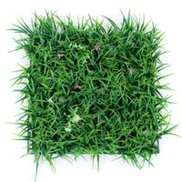 Wholesale Artificial Lawn Grass - 30 *30cm Artificial Plants Lawn Turf Planta Artificial Grass Lawns Carpet Sod Garden Decor House Ornaments Plastic Turf Carpet