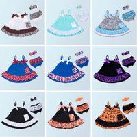 ingrosso set di swing-Baby Girl Clothing Set Summer Style Baby Swing Top infantile Ruffle Outfit PP Pants Fascia per neonato