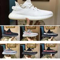 Wholesale zebra steel - 2018 Semi Frozen Yellow shoe 350 v2 Beluga 2.0 Blue Tint Orange SPLY 350 sneaker Zebra Black Red Kanye Running Shoe
