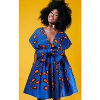 ba08168d2925c Le paon sexy imprimé robes africaines de soirée des femmes 2018 style rétro  cross bandage robe dames vêtements traditionnels de l Afrique